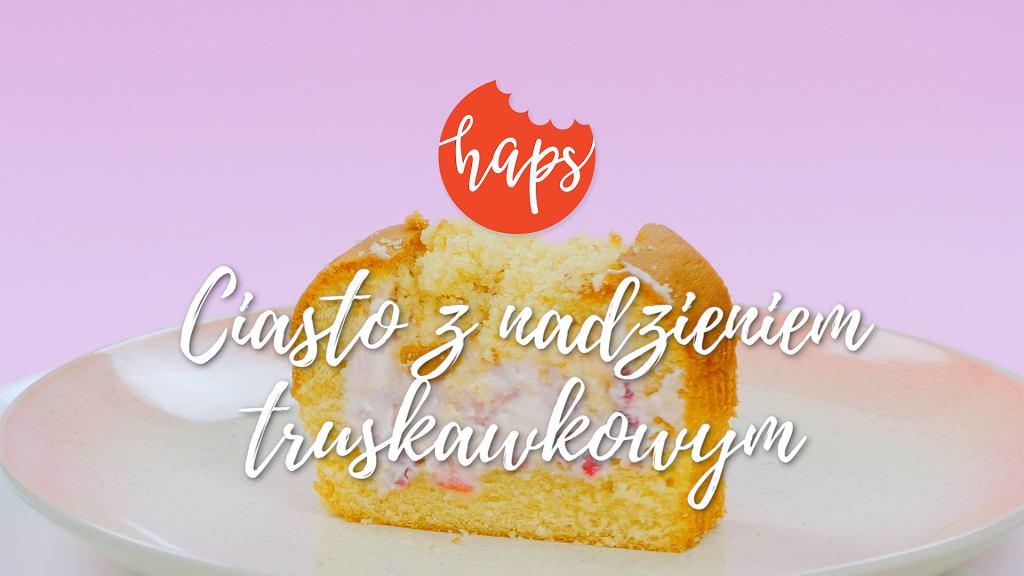 Haps ciasto z nadzieniem truskawkowym