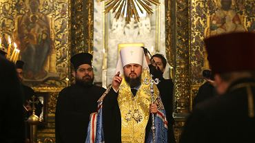 Metropolita Epifaniusz w chwilę przed podpisaniem dekretu o autokefalii Prawosławnego Kościoła Ukrainy