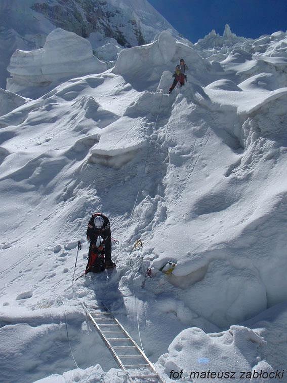 Artur Hajzer i Artur Małek na Ice Fallu