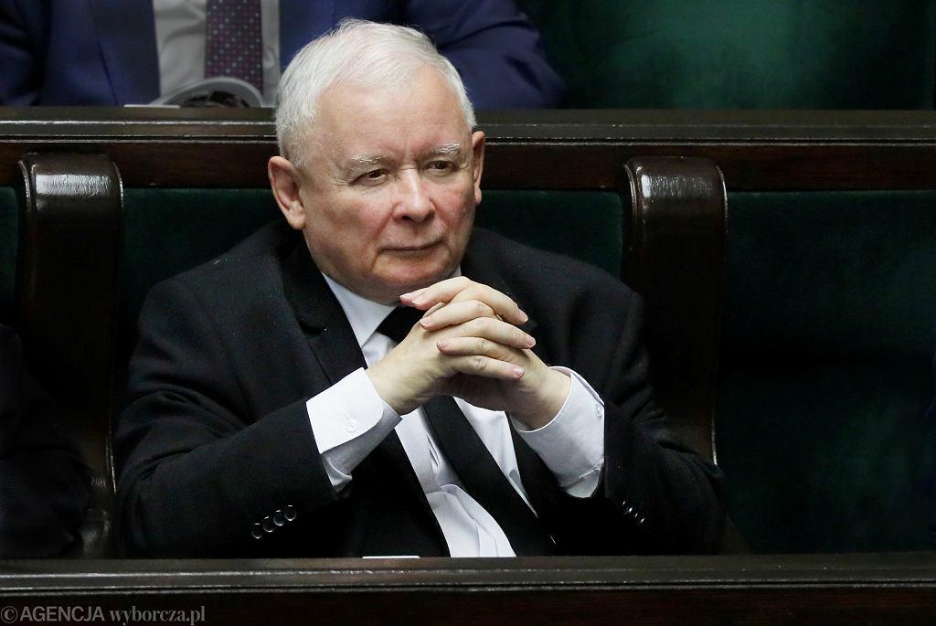 Jarosław Kaczyński w Sejmie, 2019