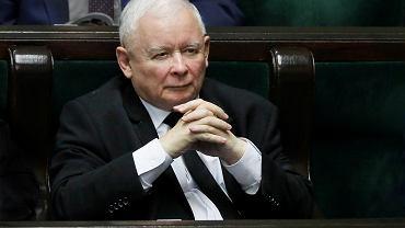 Jarosław Kaczyński w Sejmie, 2019 r.