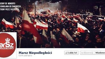 Zrzut ekranu z zastępczego profilu Marszu Niepodległości