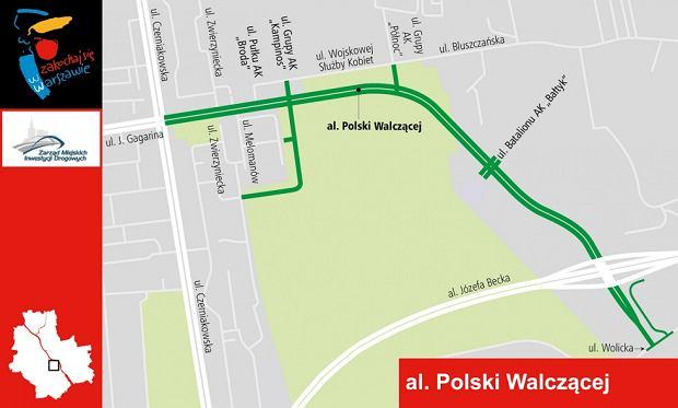Przebieg alei Polski Walczącej