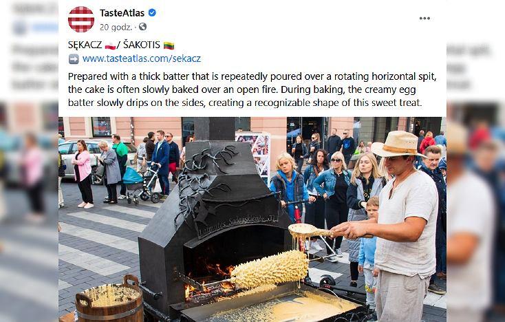 TasteAtlas pisze o sękaczu. W komentarzach oburzenie: 'Jestem zaskoczony, że nazywacie go polskim'