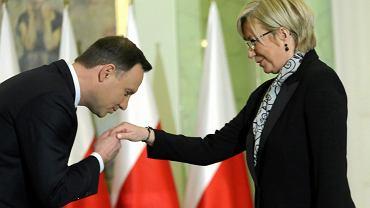 Andrzej Duda i Julia Przyłębska