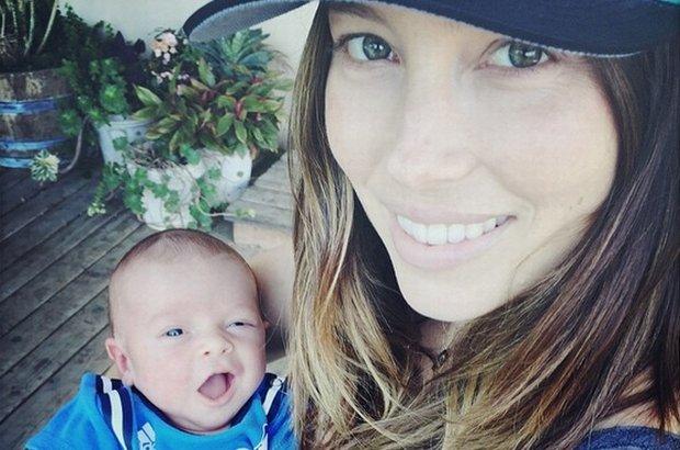 Jessica Biel z synem