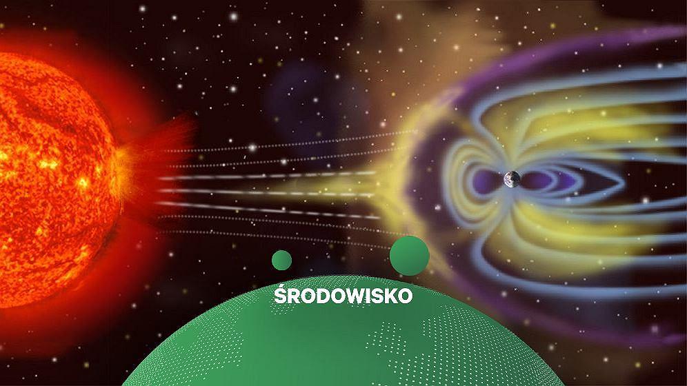 Słońce i Ziemia (grafika ilustracyjna)