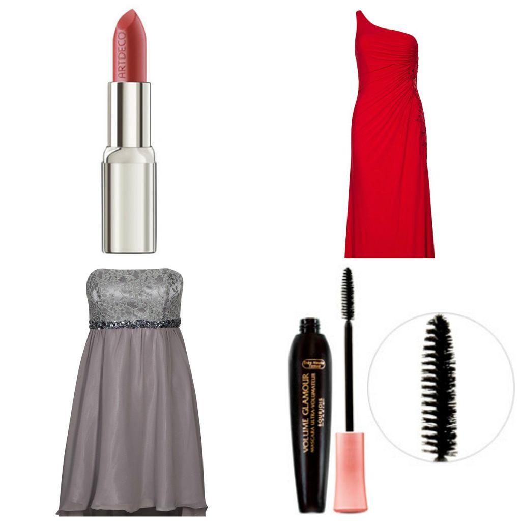 Makijaż i sukienka