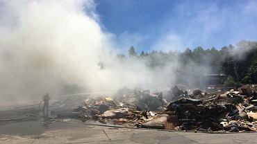 Pożar składowiska odpadów na Radiowie