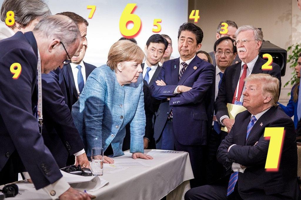 G7. Angela Merkel i Donald Trump