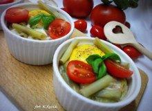 Jajka zapiekane z fasolką szparagową - ugotuj