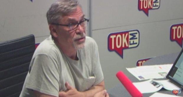 Jacek Żakowski w studiu radia TOK FM