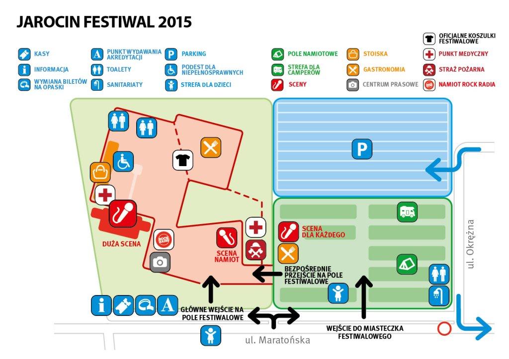 Jarocin Festiwal - mapa