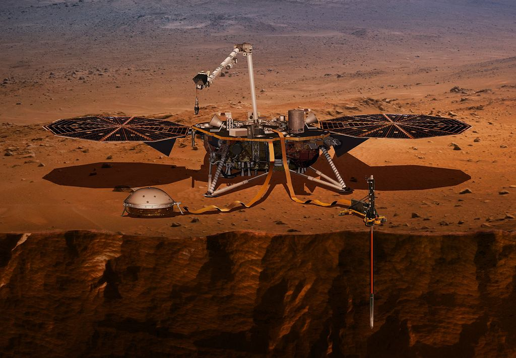 Lądownik InSight na Marsie