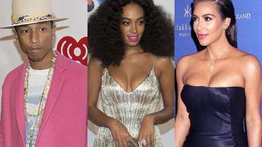 Pharrell Williams, Solange Knowles, Kim Kardashian