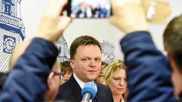 Kandydat na prezydenta Szymon Hołownia otwiera swoje biuro wyborcze w Olsztynie, 22 lutego 2020