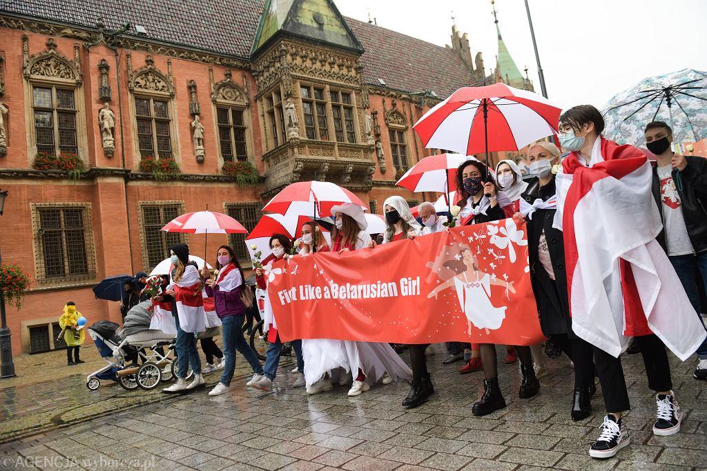 Marsz solidarności z kobietami Białorusi. Wrocław, 10.10.2020.