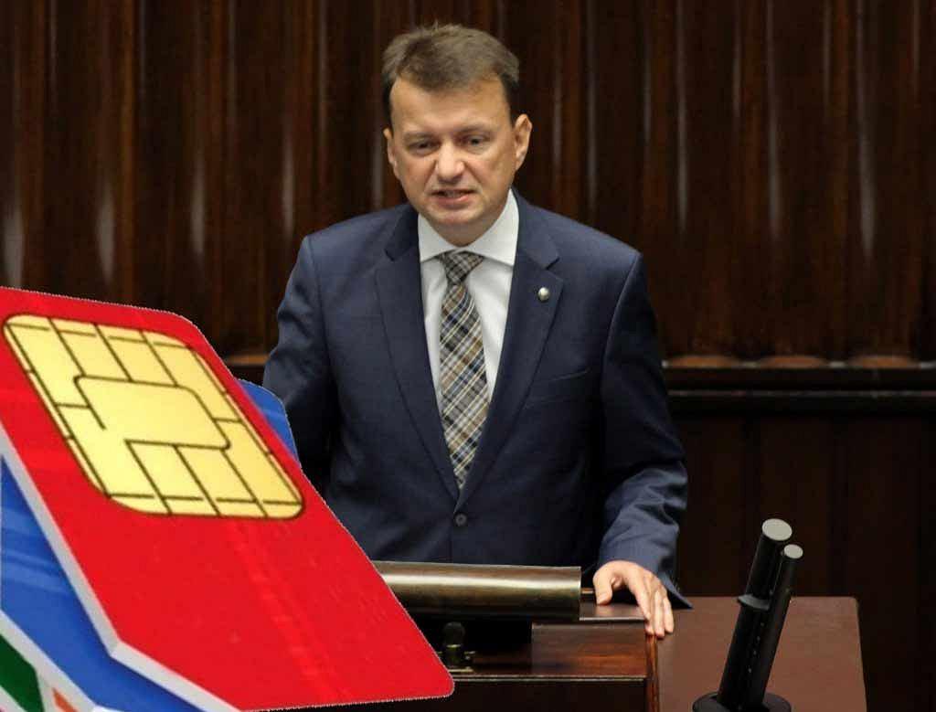 Minister Błaszczak ostrzega handlujących kartami SIM
