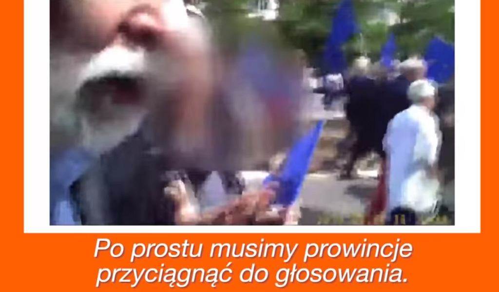 Nagranie z Rafałem Grupińskim pokazano na konwencji PiS w Krakowie