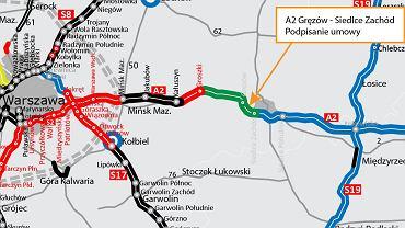 Autostrada A2, Mińsk Mazowiecki - Siedlce