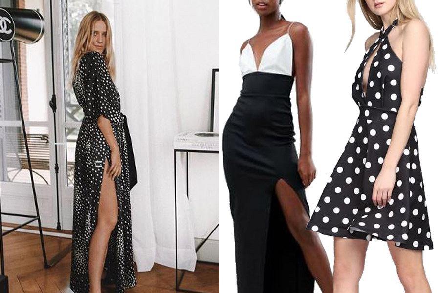 czarno-białe sukienki/ma. partnera
