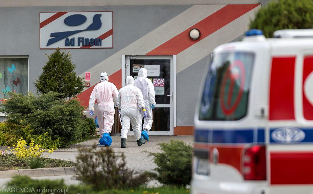 Ewakuacja DPS-u w Czernichowie