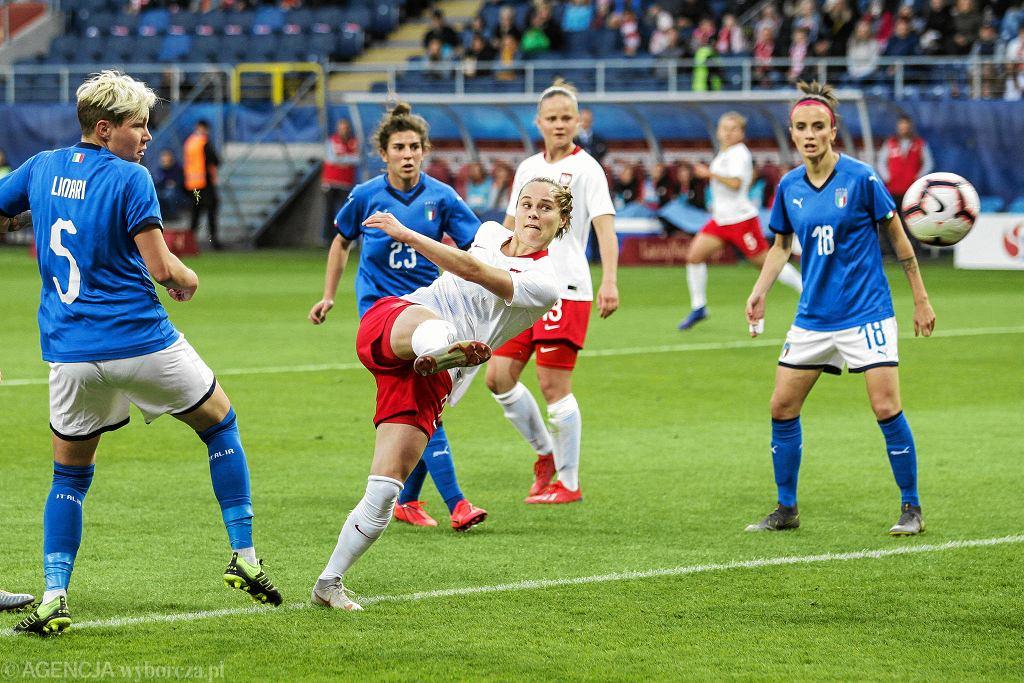 Ewa Pajor w meczu Polska - Włochy