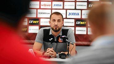 Trener Widzewa Zbigniew Smółka