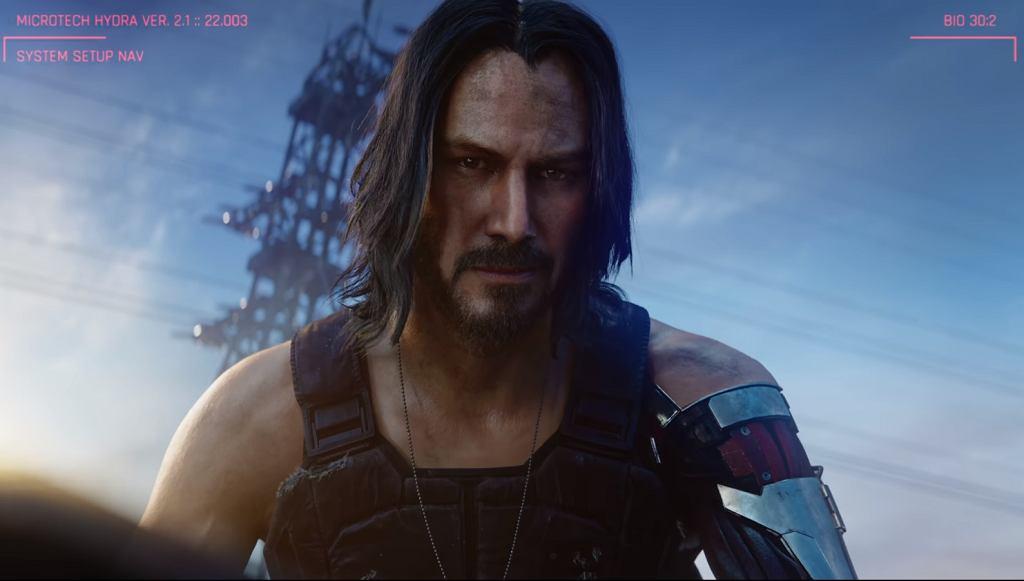 Keanu Reeves w grze Cyberpunk 2077.