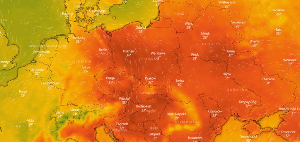 Pogoda. W sobotę Polska będzie jednym z najgorętszych krajów w Europie