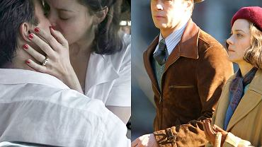 """Brad Pitt i Marion Cotillard na planie filmu """"Sprzymierzeni"""""""