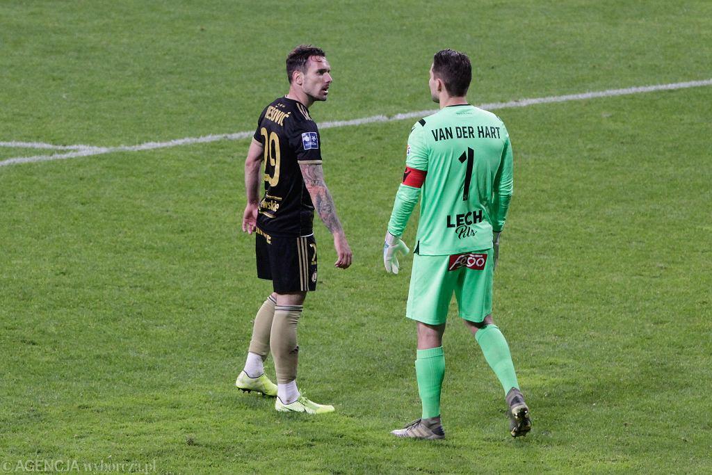 Mickey van der Hart w meczu Lech Poznań - Legia Warszawa