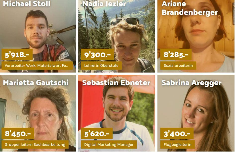 Strona internetowa szwajcarskiego związku zawodowego Unia