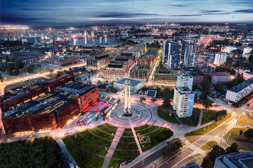DOKI - wizualizacja wilofunkcyjnej inwestycji realizowanej przez firmy Torus i Euro Styl