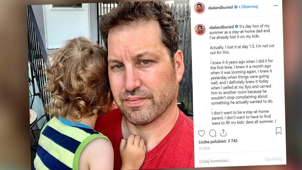 Ojciec dwóch synów z Brooklynu w gorzkich słowach napisał o tym, jak trudne jest dla niego ojcostwo