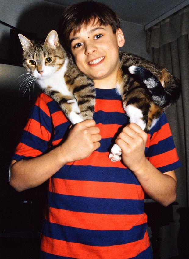 Mateusz Damięcki w 1993 roku.