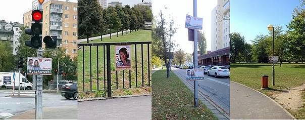Nielegalnie zawieszone plakaty