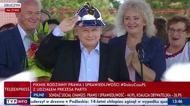 Jarosław Kaczyński podczas pikniku w Zbuczynie