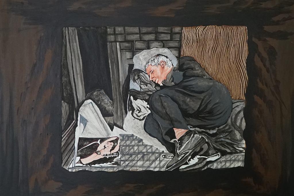 Wystawa prac więźniów na temat bezdomności