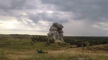 Detonacja niewybuchu znalezionego podczas budowy II linii metra w Warszawie.