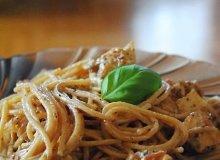 Spaghetti z kremowym serkiem i kurczakiem - ugotuj
