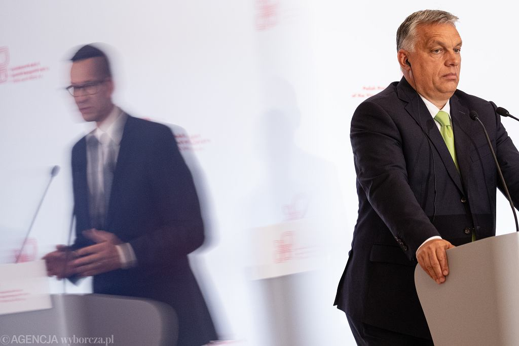 Konferencja prasowa premierów państw Grupy Wyszehradzkiej