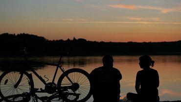 Rowery nad Jeziorem Kortowskim