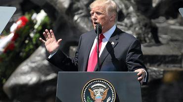 Donald Trump . Przemówienie na pl. Krasińskich