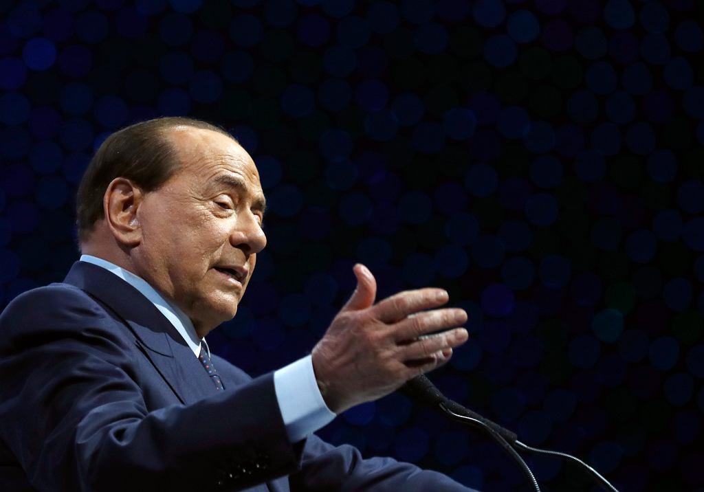 Były premier Włoch Silvio Berlusconi zakażony koronawirusem (na zdjęciu: przemawia do zwolenników partii EPP. Zagrzeb, Chorwacja,21 października 2019