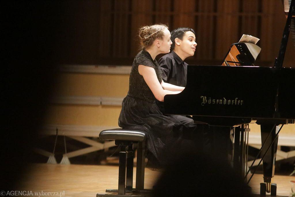 Najmłodszy duet -  Lidia Efimovich i Vladimir Rybakov  (Białoruś/Rosja)