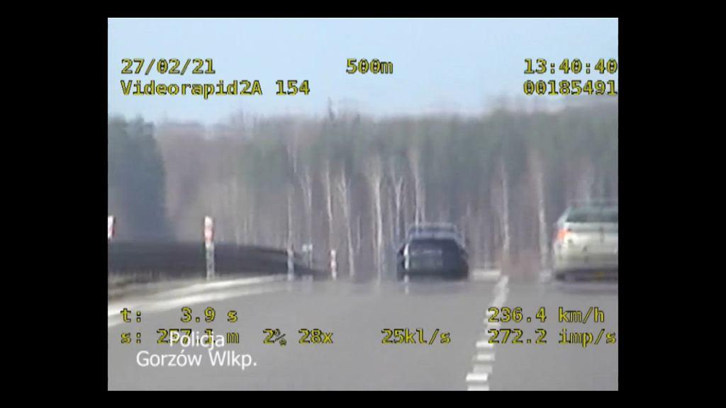 Jechał 236 km/h po S3. Sprawa trafiła do Sądu