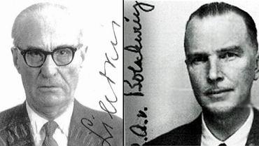 Z lewej: Aleksandras Lileikis, kat tysięcy litewskich Żydów. Z prawej: Otto von Bolschwing, bliski współpracownik Eichmanna