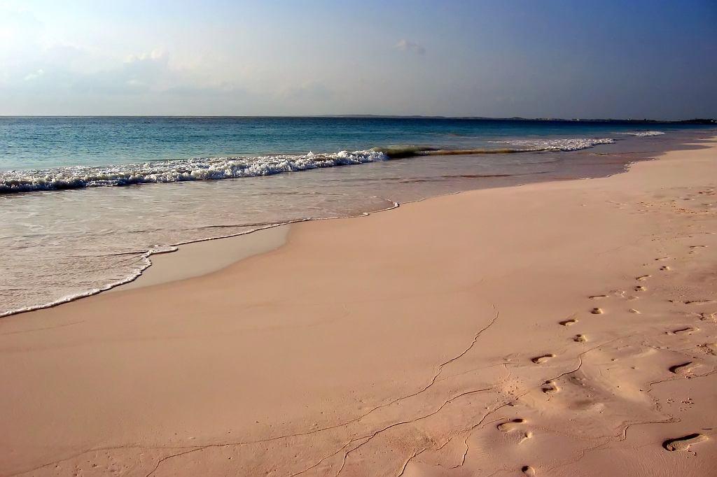 Pink Sands Beach na Bahamach