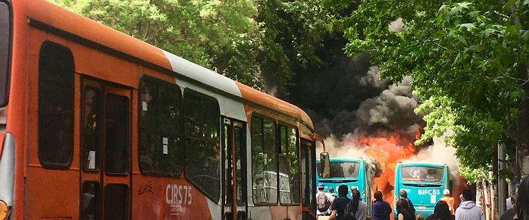 Chile pogrążone w płomieniach i chaosie.